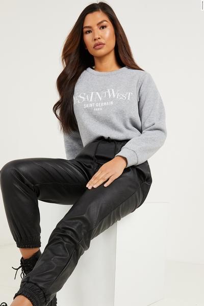 Grey Slogan Sweatshirt